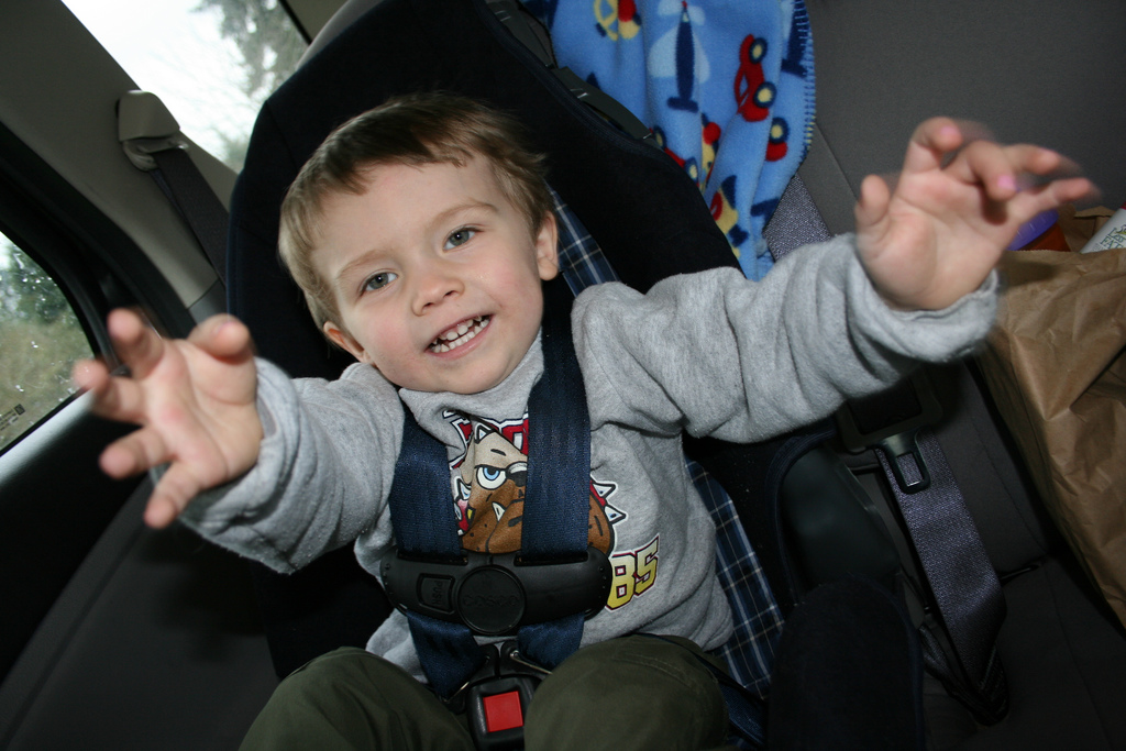 Kid In a Carseat